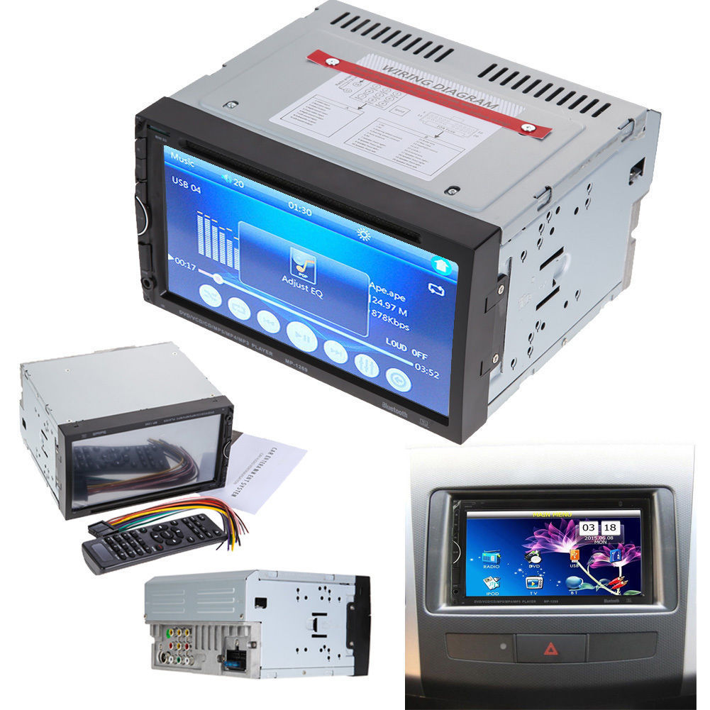 Double 2 Din 7 In Dash Stereo Car Dvd Cd Mp5 Player Bluetooth Radio Usb To Wiring Diagram Sd Axu