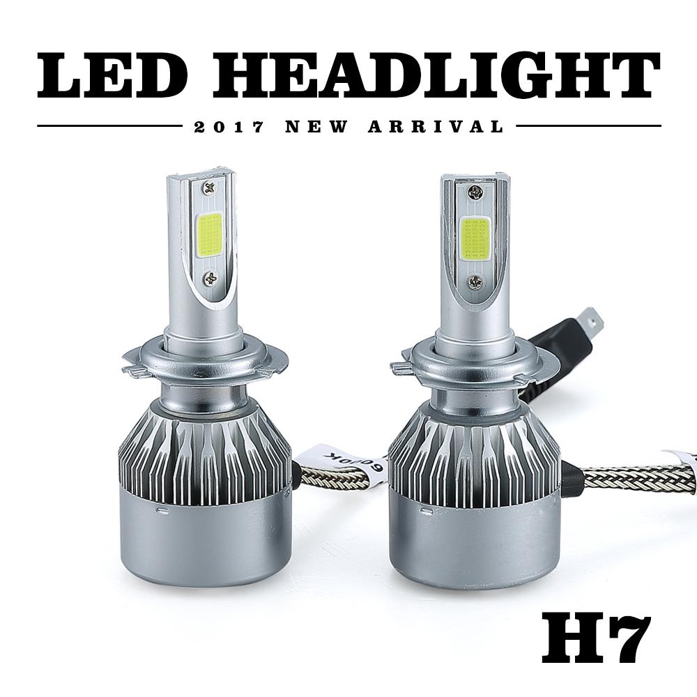 H7 Led Bulb Z1000: 2X72W 8000LM H7 Car LED Headlight Kit Conversion Beams