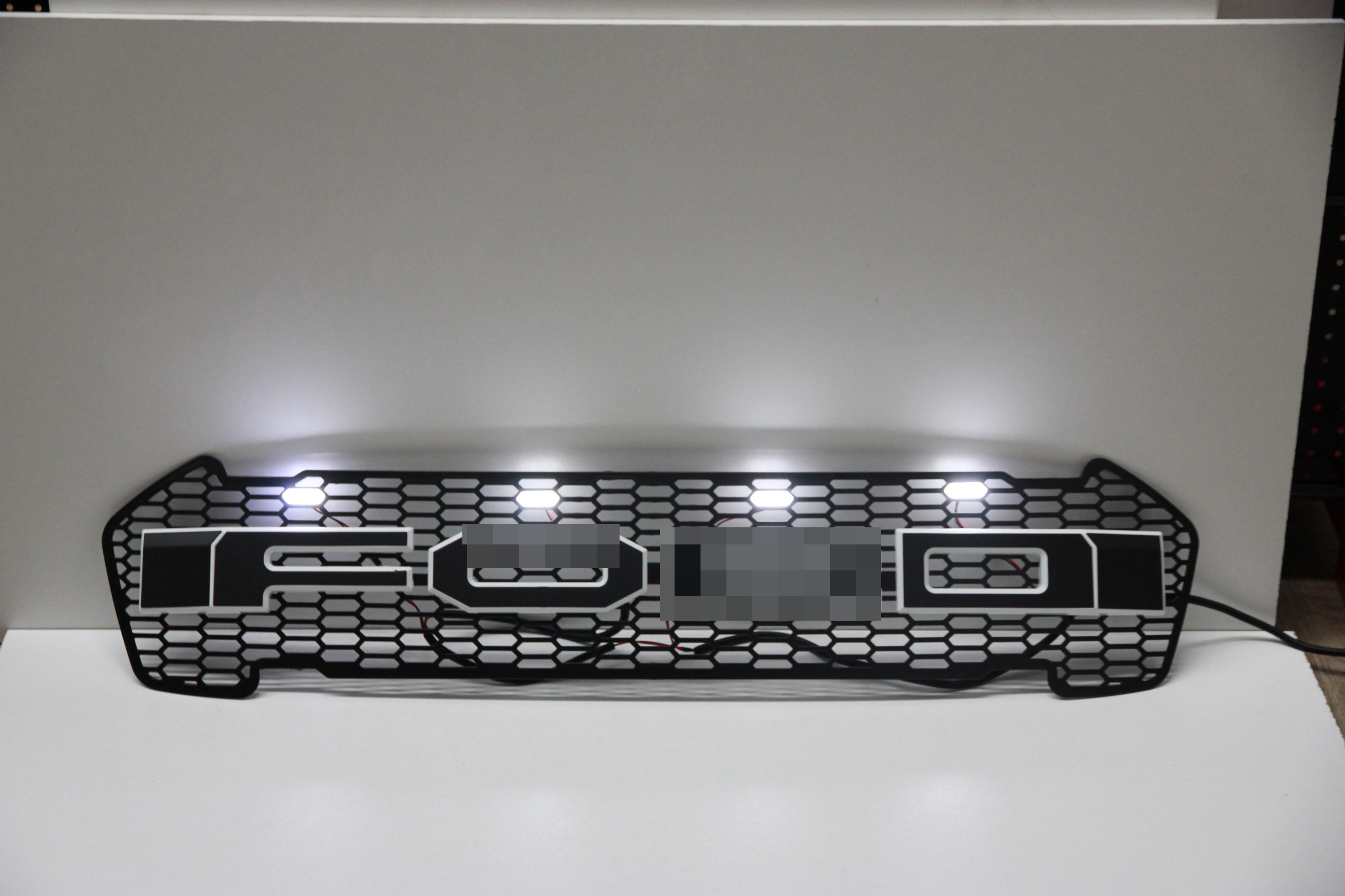 ford ranger px2 black white raptor style grill grille. Black Bedroom Furniture Sets. Home Design Ideas