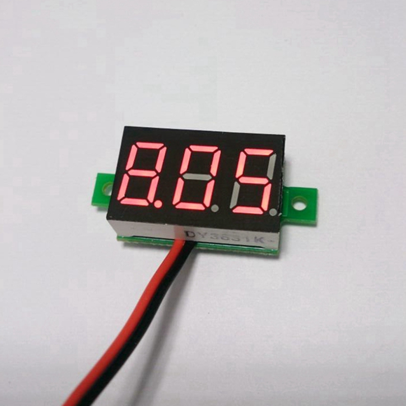 Red 1PC Digital 0.28/″LED Display Voltmeter DC Voltage Meter Panel 2.5-30V