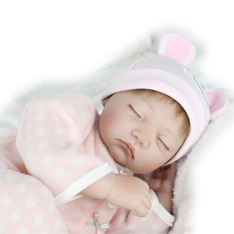 22 Quot Full Body Silicone Reborn Sleeping Doll Soft Cute