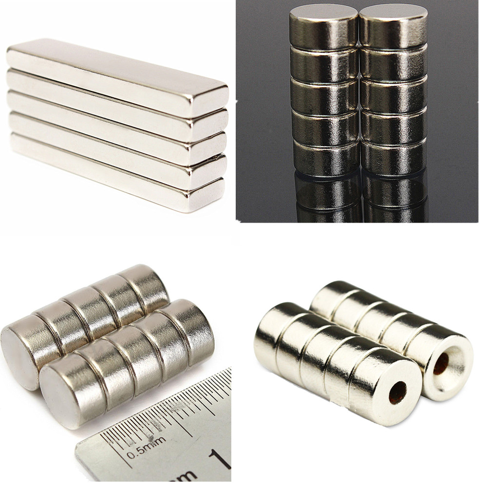 10PCS 10 x 5mm Strong Round Cylinder Rare Earth Neodymium Magnets Magnet N52 MF