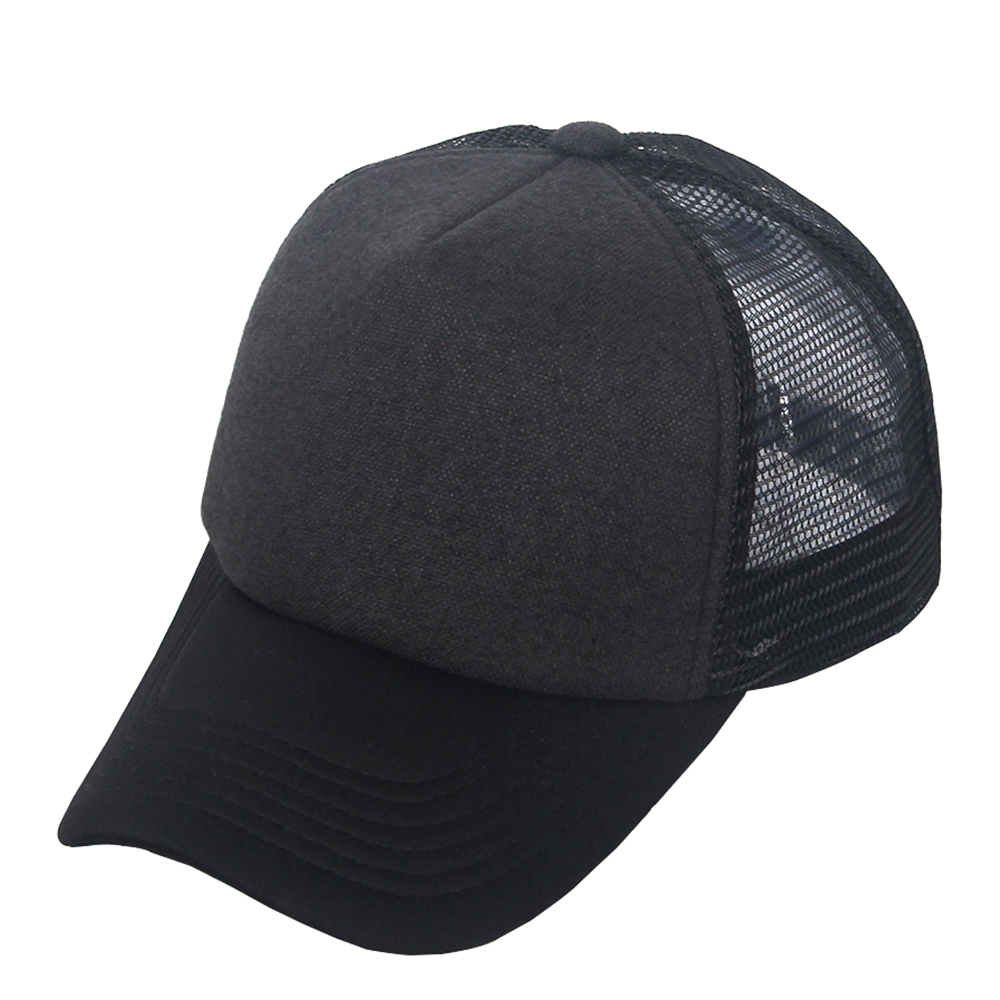 Unisex Plain Baseball Trucker Caps Mesh Hat Adjustable ...