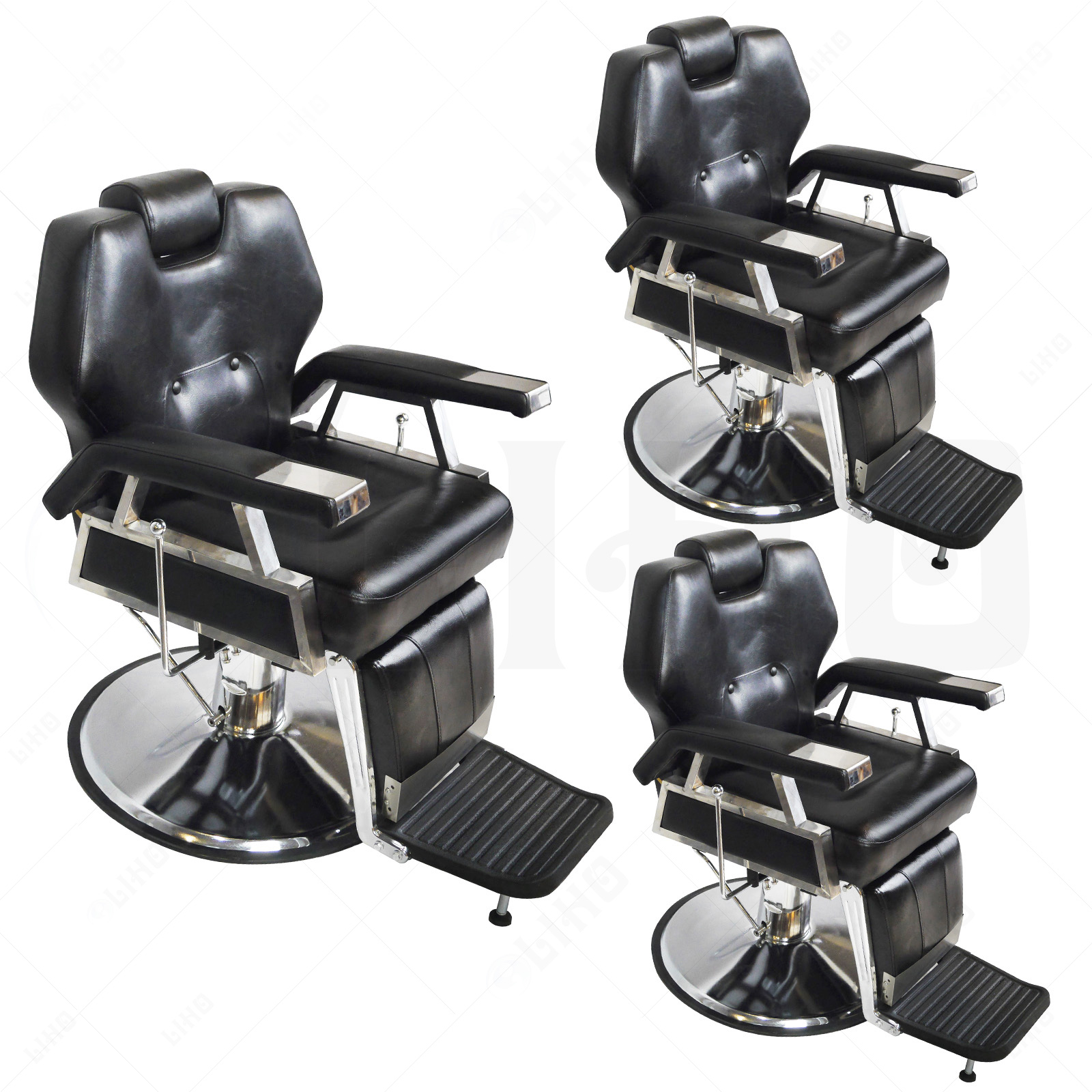 Hydraulic reclining barber chair salon hair styling beauty for Hydraulic chairs beauty salon