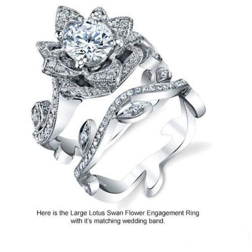 Hot Sale Fashion 925 Silver Sapphire Gem Ring Wedding ...