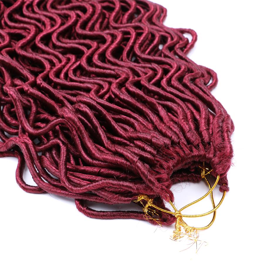 24 Roots Curly Faux Locs Wavy Dreadlocks Crochet Braids ...
