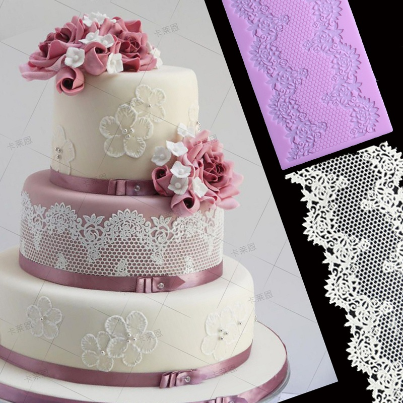 wedding cake icing moulds vintage lace cake decoration border mat silicone icing 22874