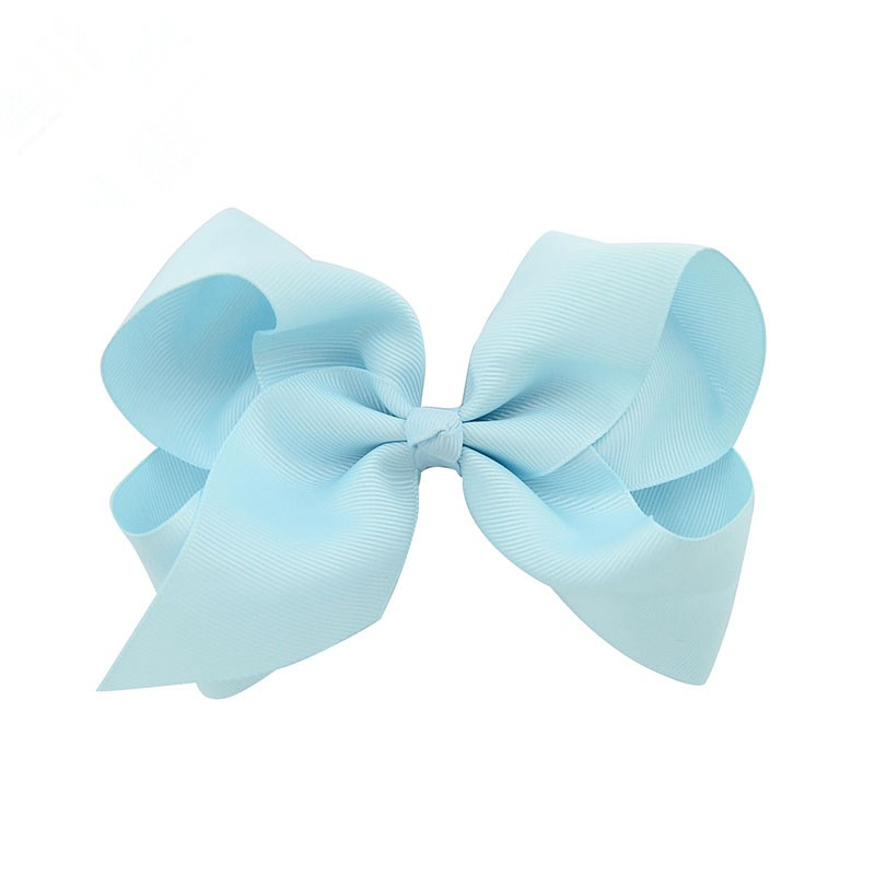 1pcs 6 Inch Girl Boutique Grosgrain Ribbon Large Hair Bow