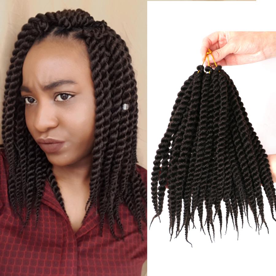 Twist Crochet Braid Extensions 12 Crochet Synthetic Kanekalon Hair