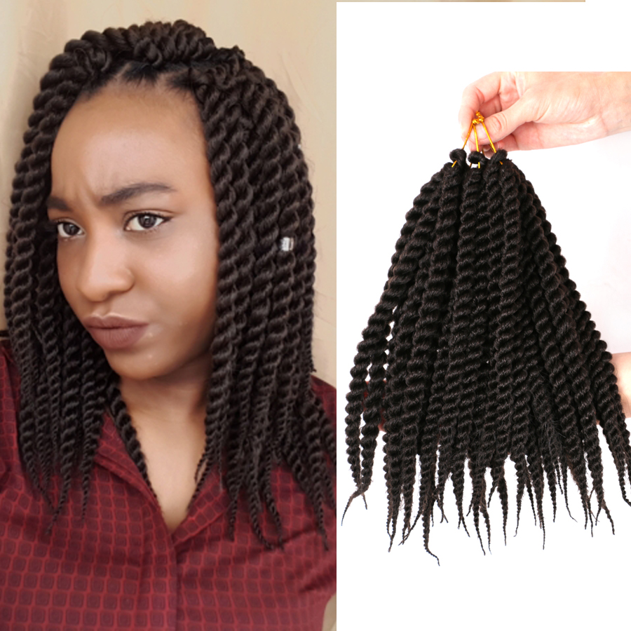 12 Short Twist Hair Synthetic Crochet Braids Hair Extensions For