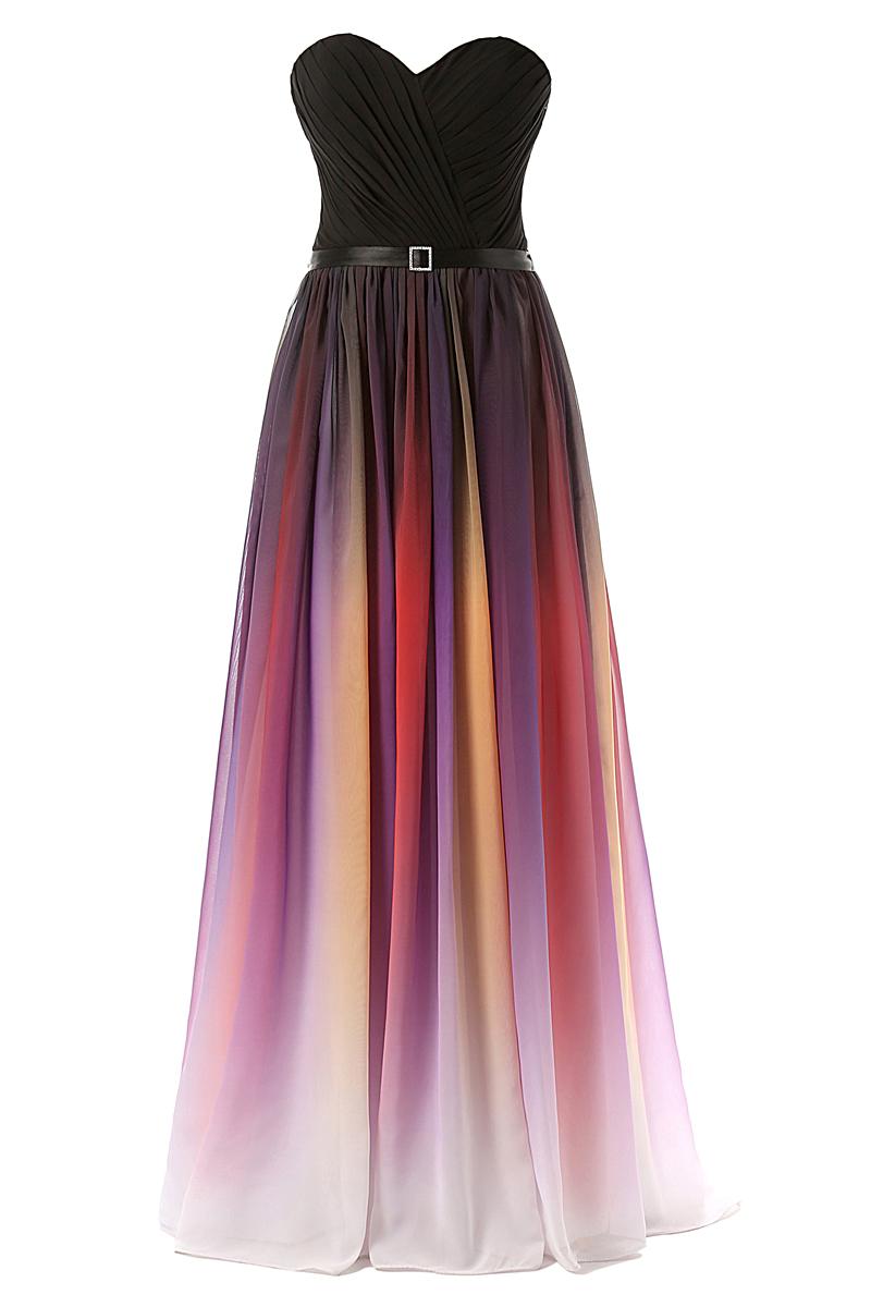 Multi Color Chiffon Bridesmaid Dresses Maxi Long Prom ...