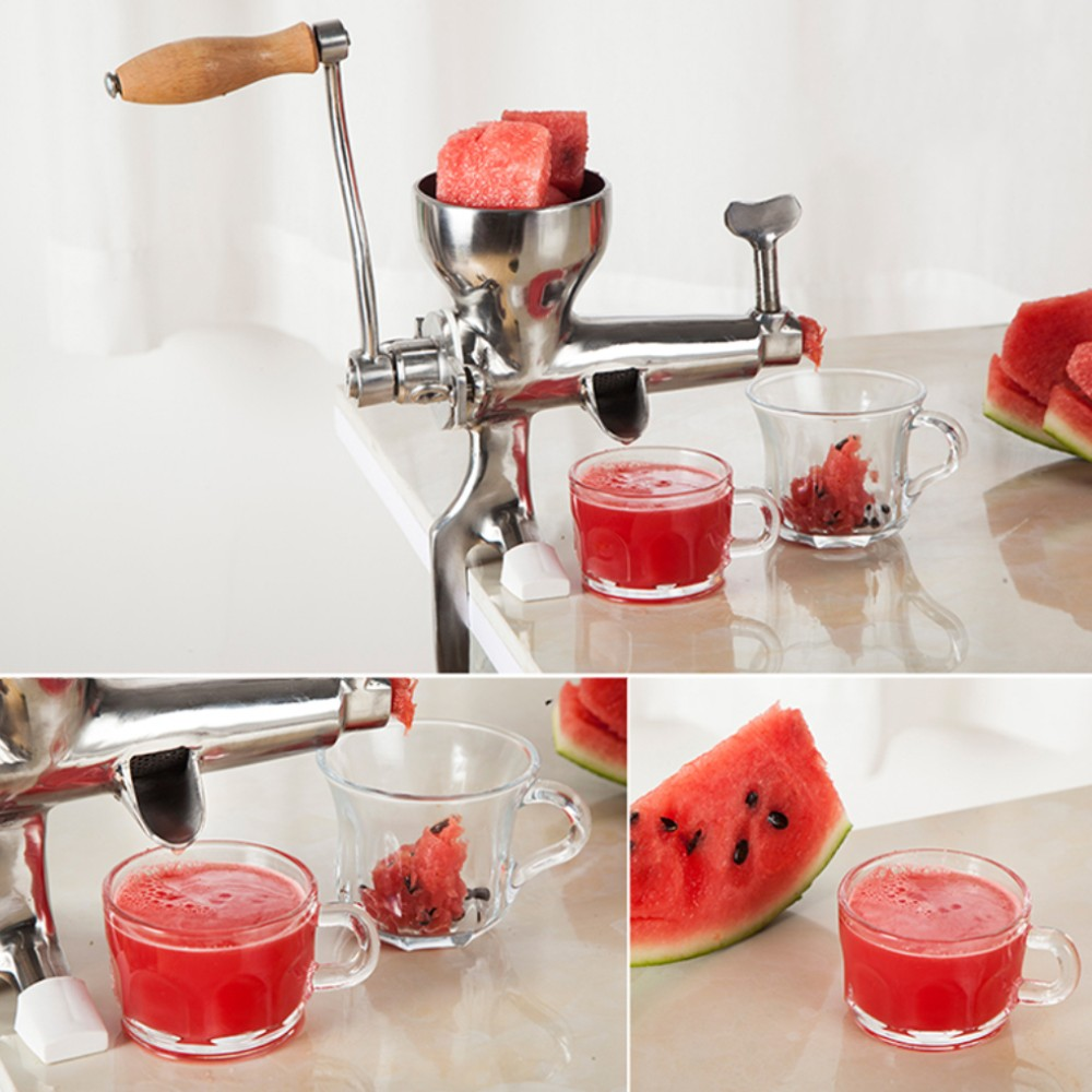 edelstahl hand juicer weizen gras squeezer obst gem se entsafter ebay. Black Bedroom Furniture Sets. Home Design Ideas