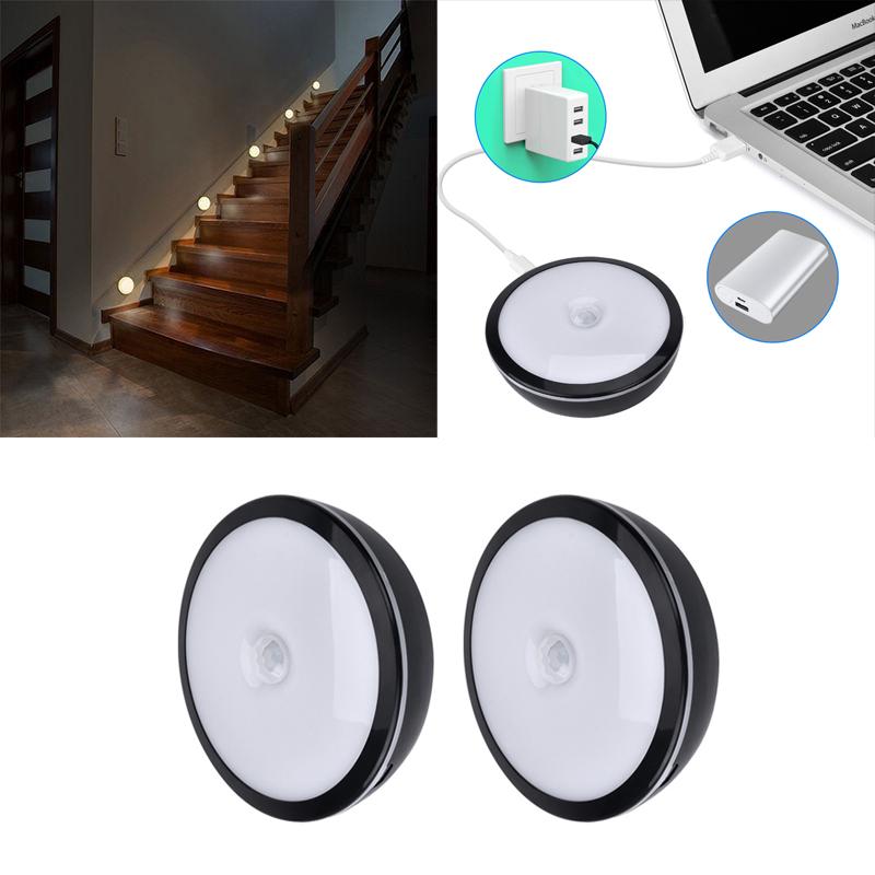 2er led nachtlicht nachtleuchte mit bewegungsmelder usb. Black Bedroom Furniture Sets. Home Design Ideas
