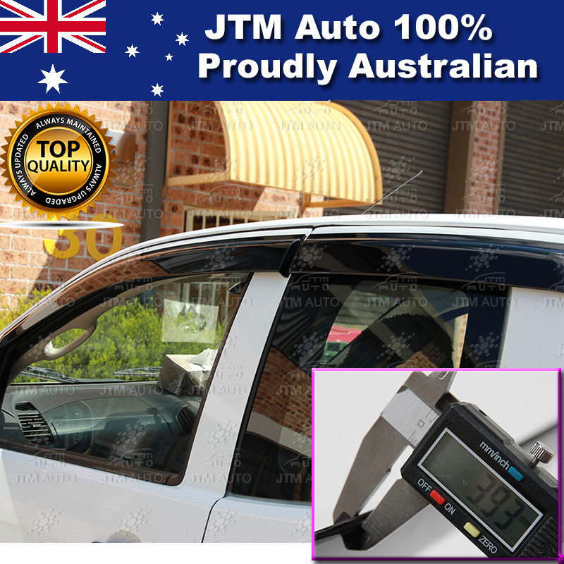 Injection Weathershields WINDOW VISORS For Holden Colorado Extra Cab 2012-2017