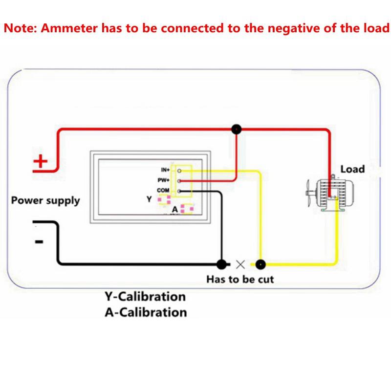 yb27va dc4 5 10a red led display volt amp meter 2in1 3