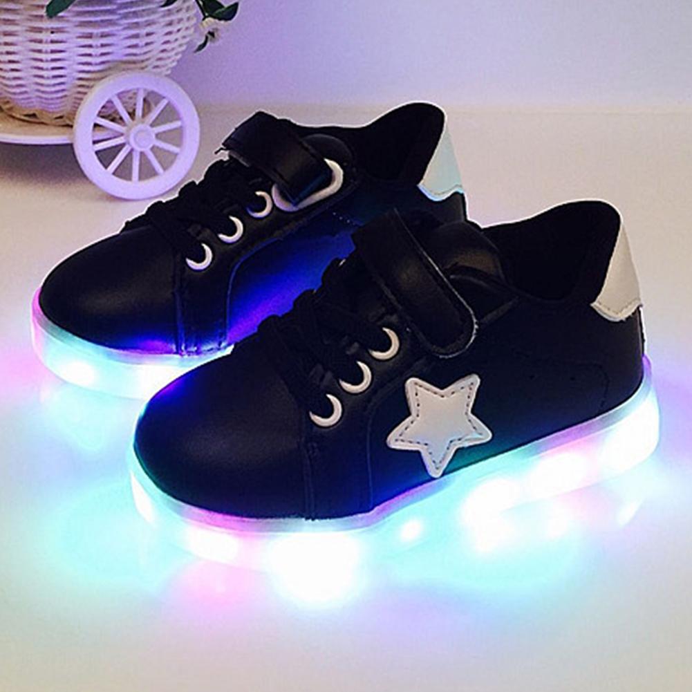 led leuchtende schuhe kinder m dchen jungen sneakers. Black Bedroom Furniture Sets. Home Design Ideas