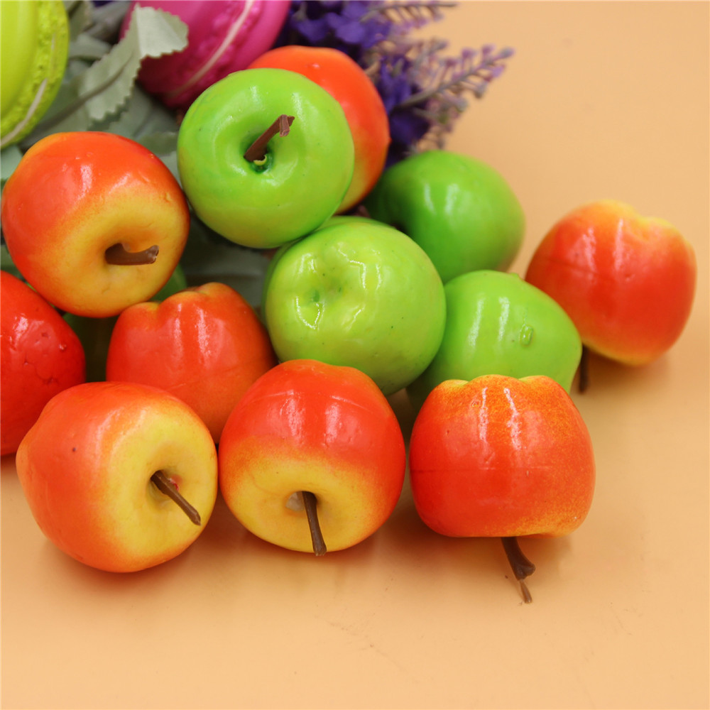 50 pcs miniature realistic fruits artificial apples multi for Apples decoration