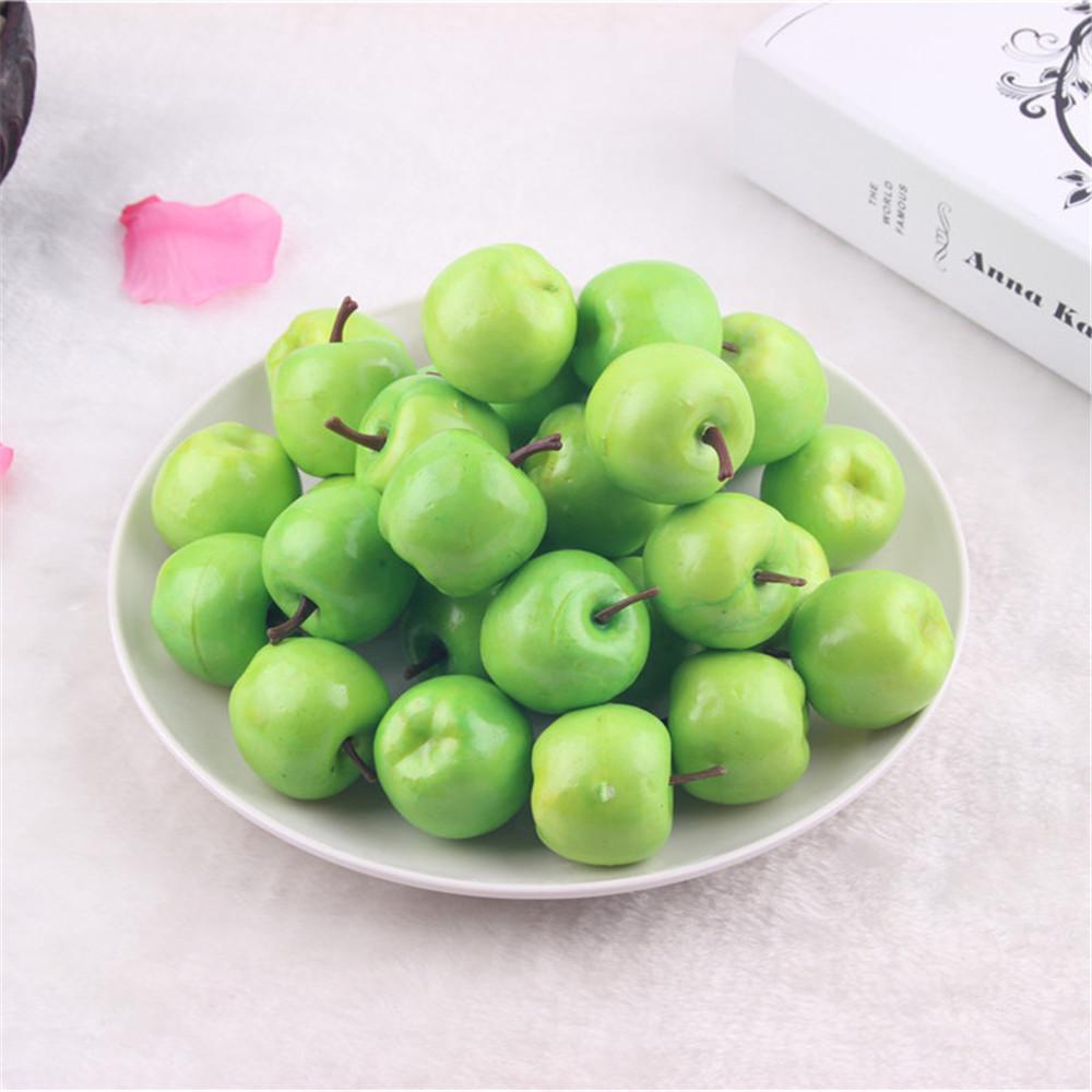 50 pcs artificial plastic mini apples faux fruit diy for Apples decoration for home