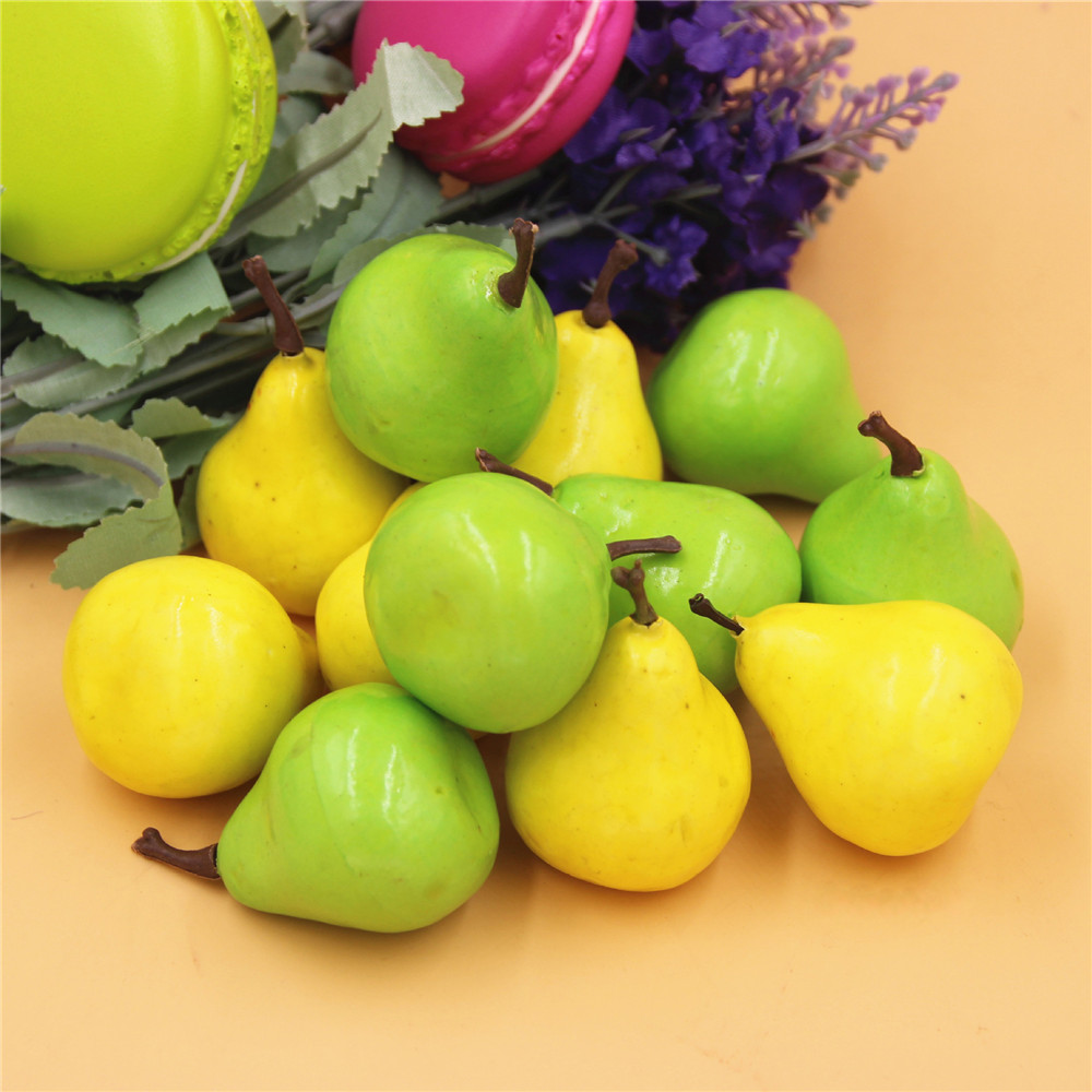 Decorative Fruit Apples 50 pcs Miniature Ornament Crafts 3.5cm Home Decorations