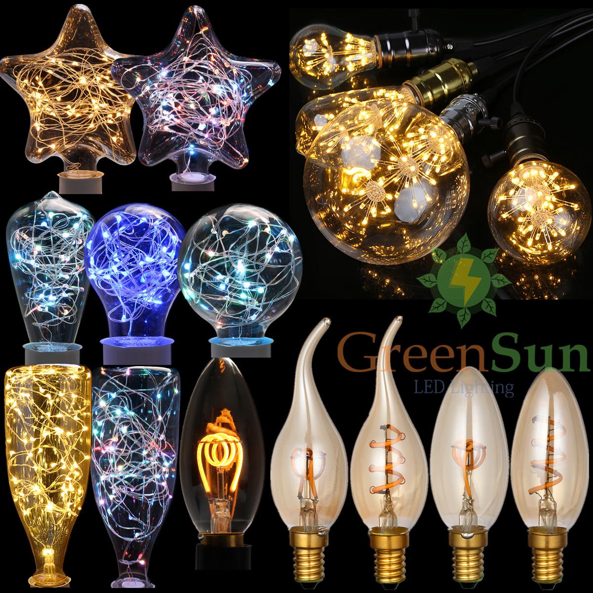 edison e14 e27 deko lampe gl hbirne warmwei rgb blau leuchtmittel globe kerzen ebay. Black Bedroom Furniture Sets. Home Design Ideas