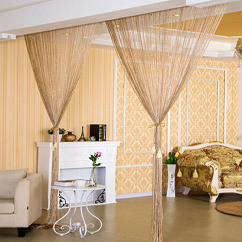 string window door curtain backdrop blind panel tassels valance room divider ebay. Black Bedroom Furniture Sets. Home Design Ideas