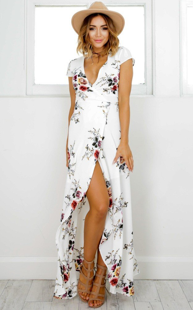 women summer vintage boho long maxi party beach dress