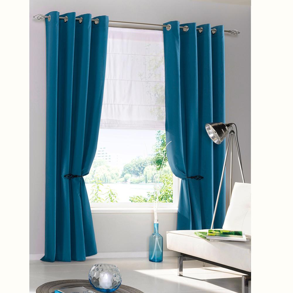 1 2pcs schlaufenschal vorhang gardine gardinenschal deko microfaser mit sen neu ebay. Black Bedroom Furniture Sets. Home Design Ideas