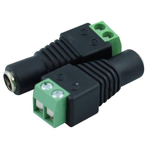10x DC Power Female Jack Barrel Plug Connector 2.1 x 5.5 mm Adapter Terminal CA
