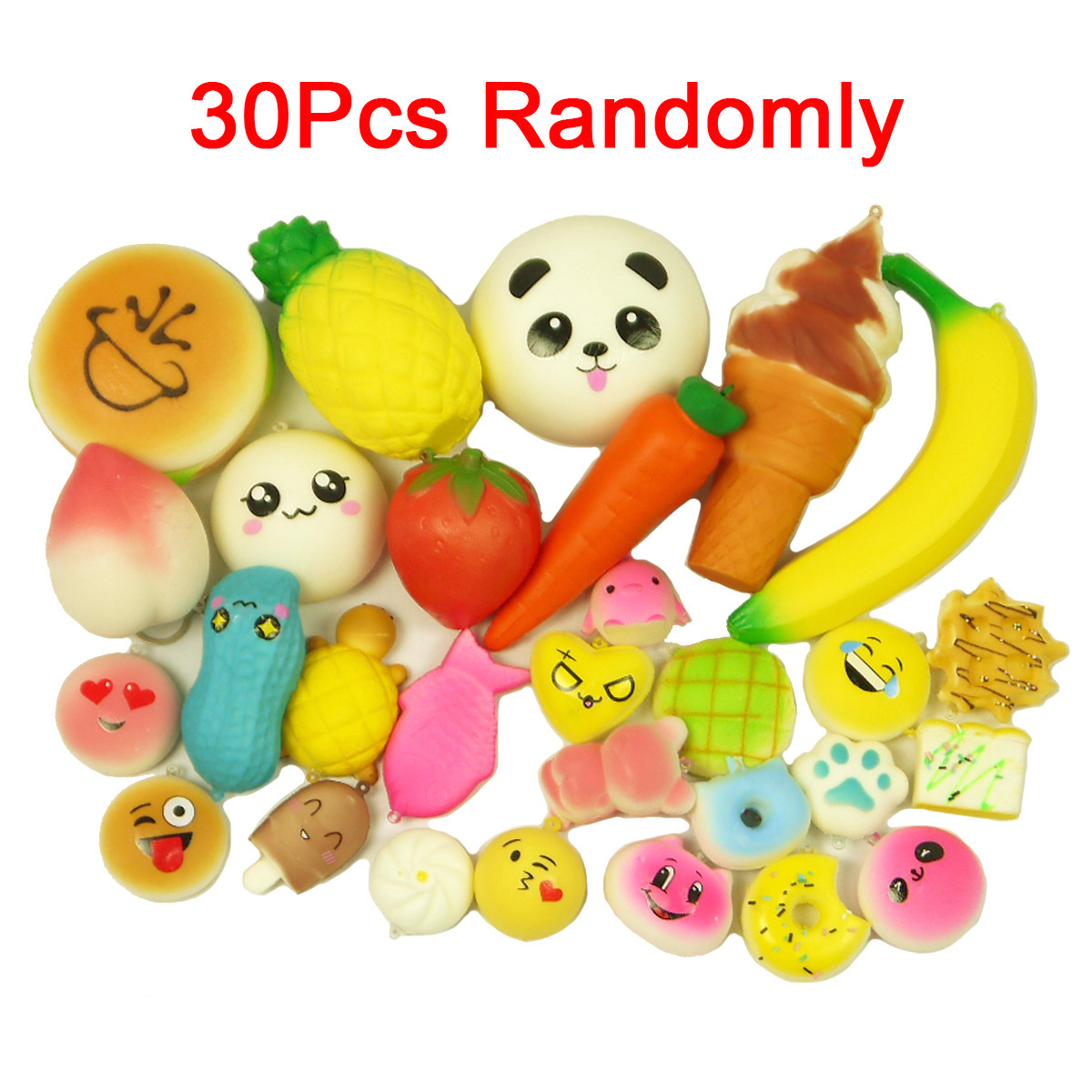 Squishy Mushy Target : 30PCS Kawaii Squishies Soft Food Panda Bread Mini Donuts Phone Straps Charms eBay
