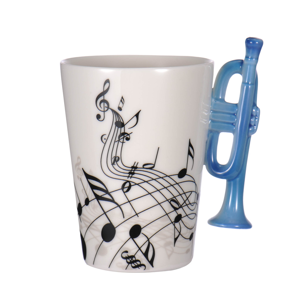 Creative 26 Styles Guitar Music Pattern Ceramic Mug Cup