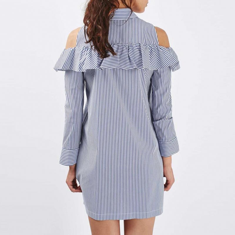 Unique Women_button_down_collar_v_neck_fashion_shirt_dress_tops_dresses_6jpg
