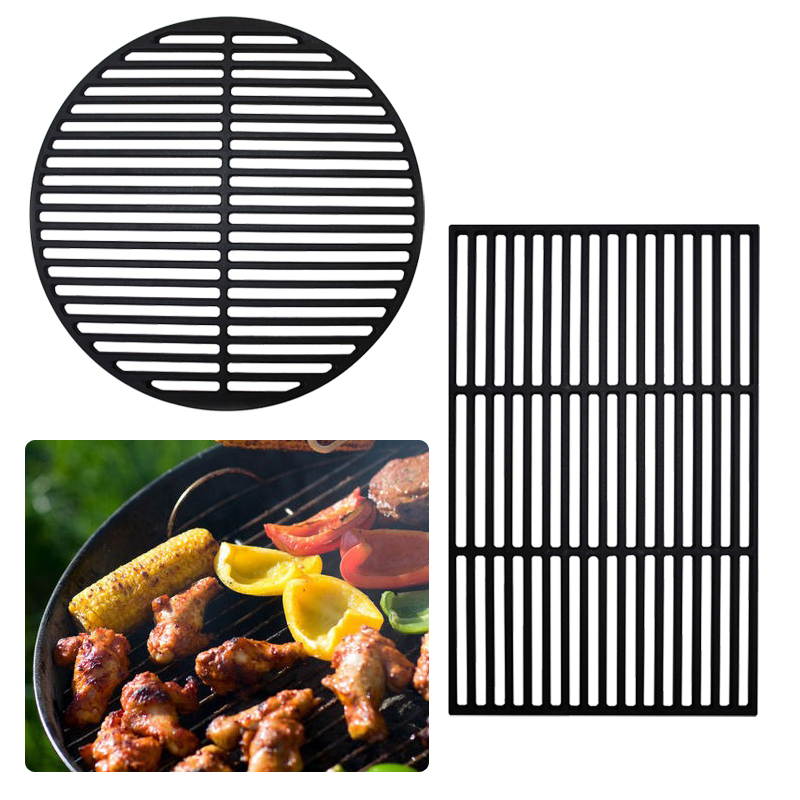 grillrost gussrost grillaufsatz gu eisen emailliert grillgitter grill rund eckig ebay. Black Bedroom Furniture Sets. Home Design Ideas