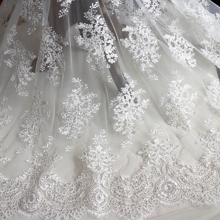 Perfect 1 Yard Evening Bridal Wedding Dress Embroidered White  Good Looking