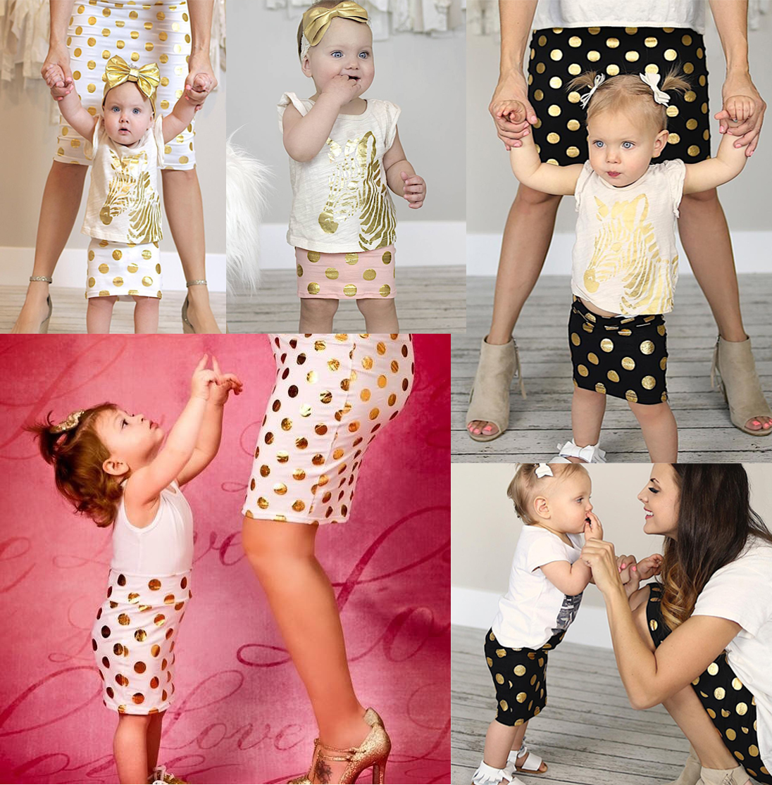 motherdaughter outfits mommy and me matching whitegold