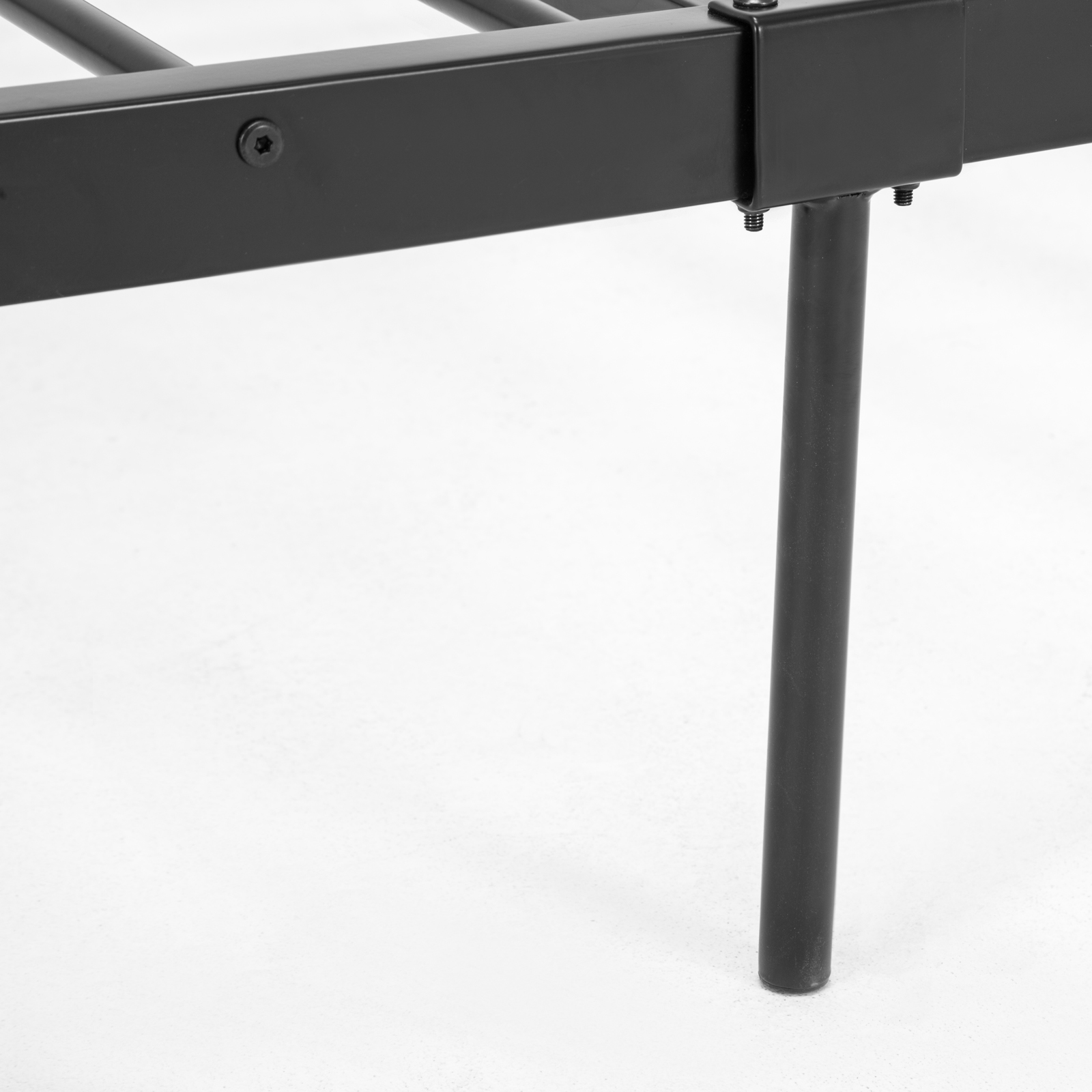 metal bed frame wood slats mattress platform heavy duty foun