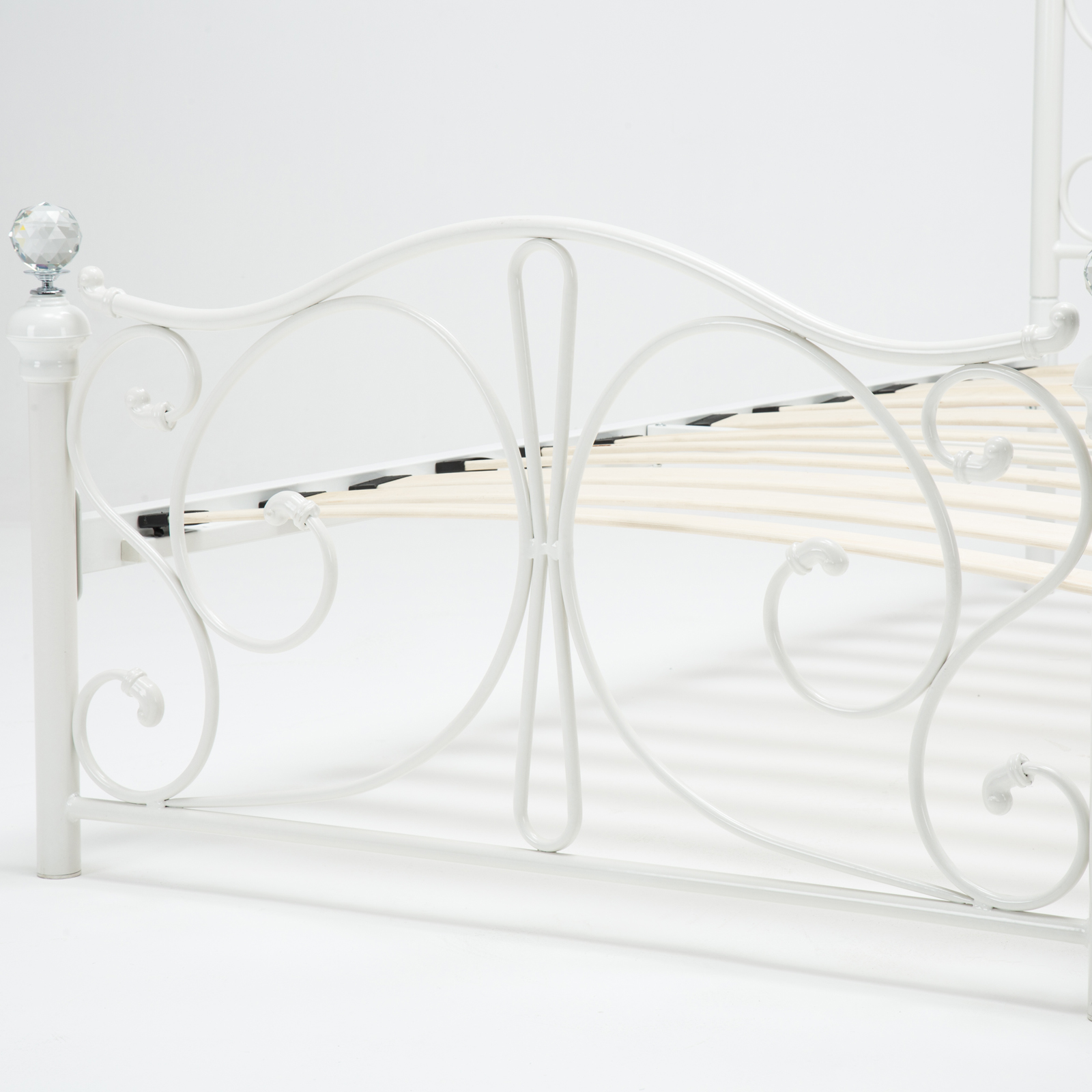 Twin full size metal bed frame cry finial headboard for Twin footboard