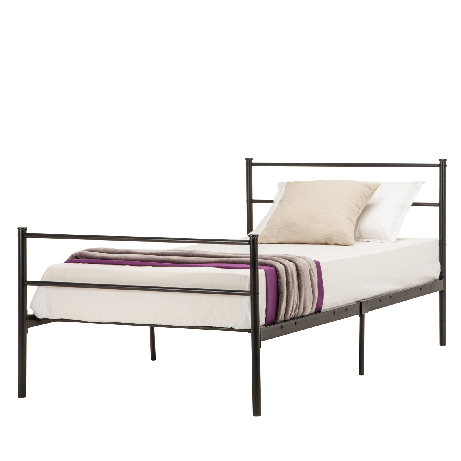 Twin Full Queen Size Metal Bed Frame Platform Headboards 6