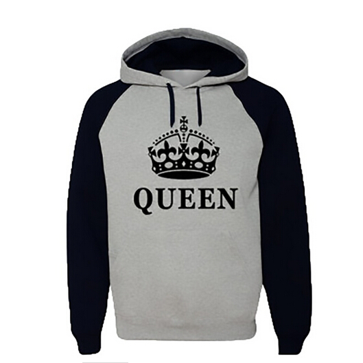 couple hoodie sweatshirt king and queen love matching. Black Bedroom Furniture Sets. Home Design Ideas