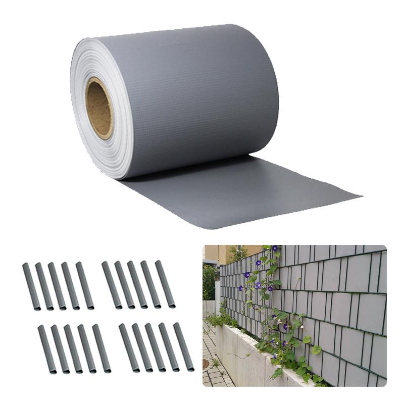 pvc sichtschutz streifen sichtschutzfolie doppelstabmatten zaun folie 35m grau ebay. Black Bedroom Furniture Sets. Home Design Ideas