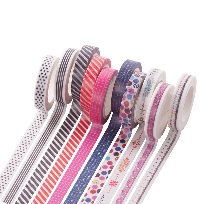 10 Roll DIY Hand Painted Colorful Washi Tape Scrapbooking Craft Paper Sticker