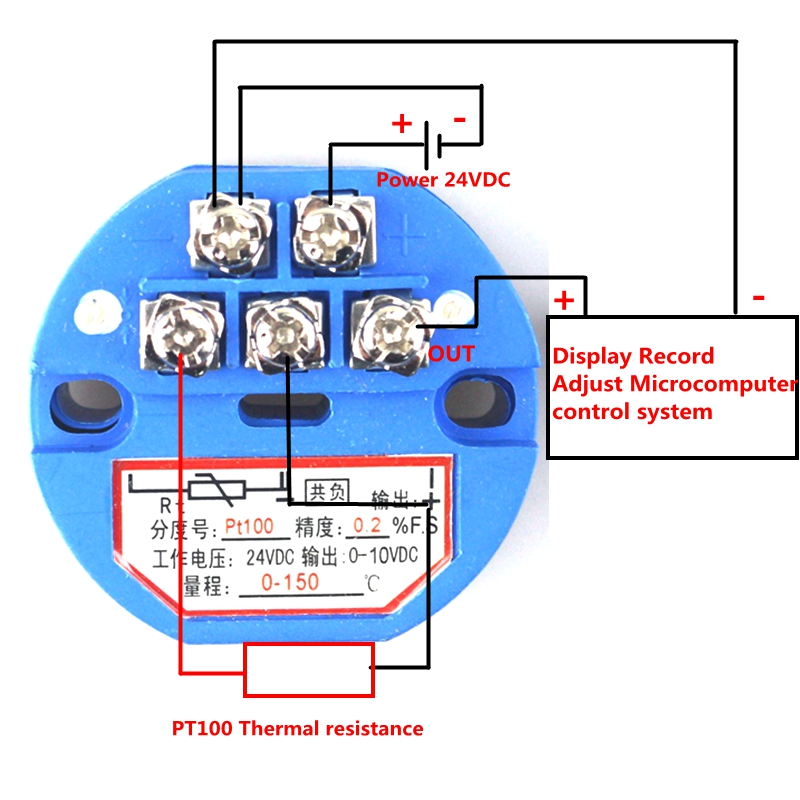 Rtd Pt100 2 Wire Wiring Diagram: Temperature Transmitter Sensor PT100 Thermal Resistance 0