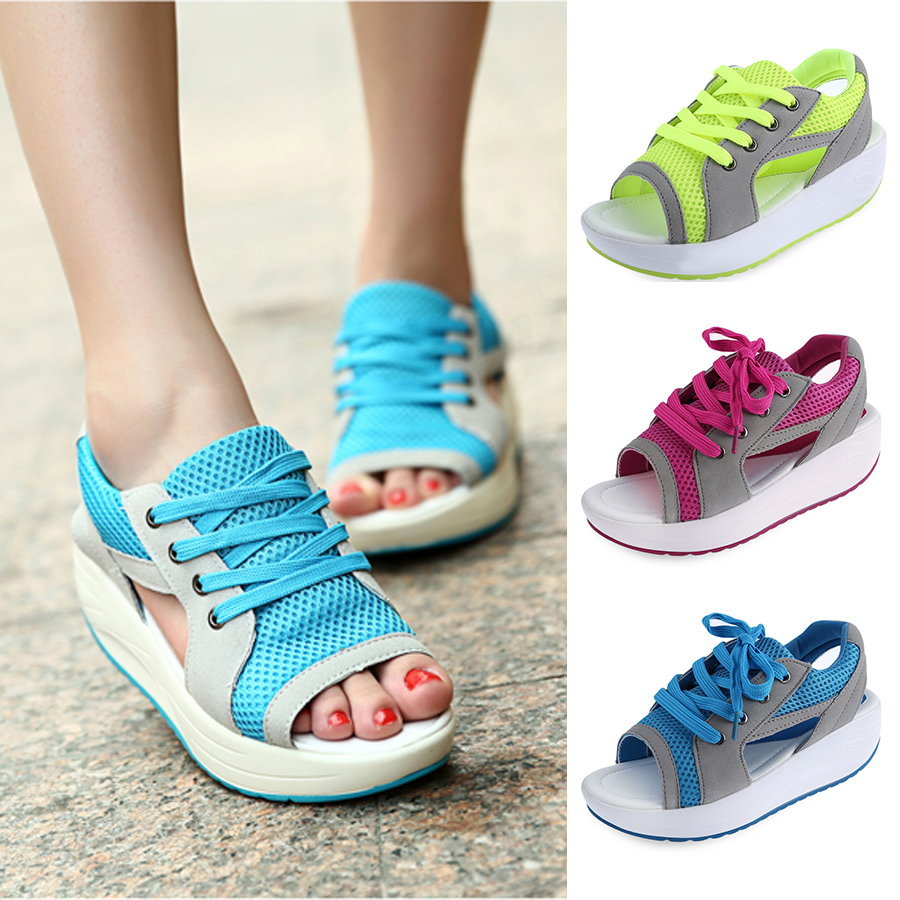 new sport sandals lace up sneaker peep toe trainer