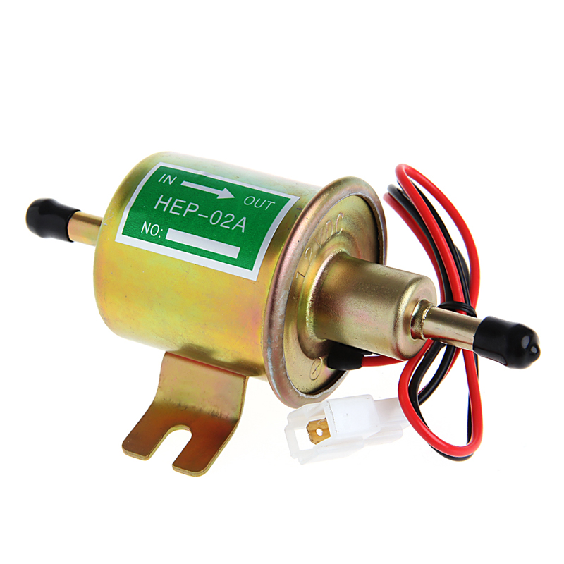 NEW White Gas Diesel Inline Low Pressure 12V Universal Electric Fuel Pump HEP02A