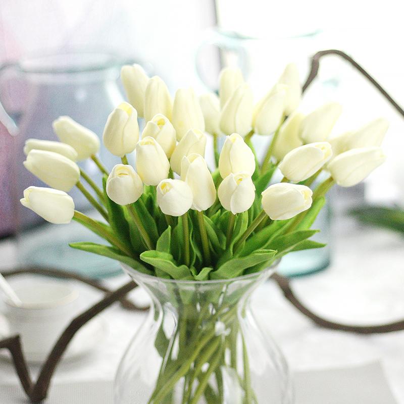 Artificial Silk Fake Flowers Tulip Floral Wedding Bouquet ...