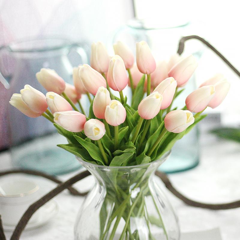 Artificial Tulip Wedding Bouquets : Artificial silk fake flowers tulip floral wedding bouquet
