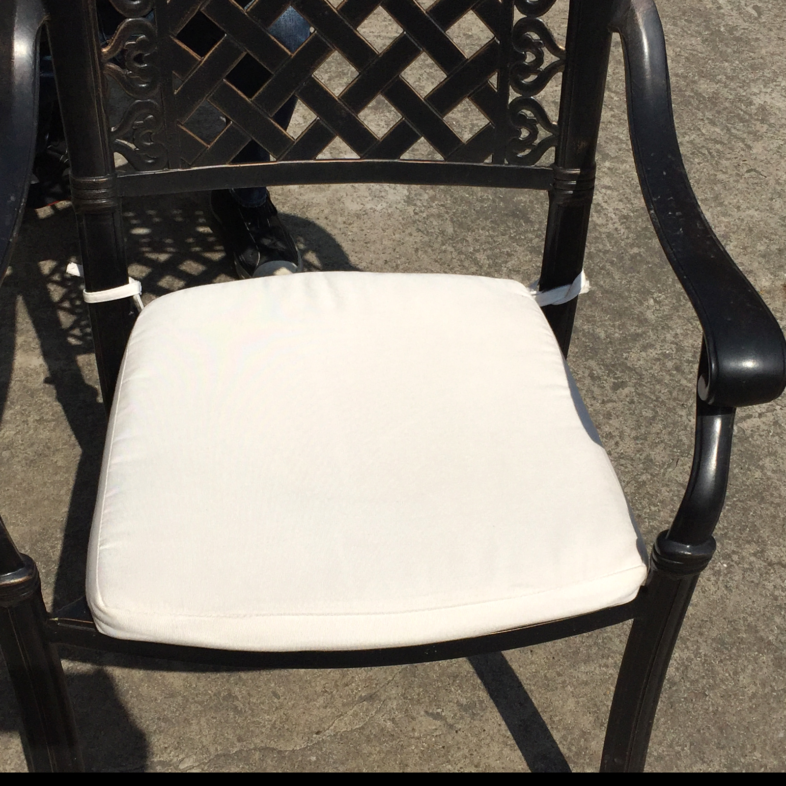 sunbrella patio chair 39 s cushions removable outdoor cover foam seat pad washable ebay. Black Bedroom Furniture Sets. Home Design Ideas