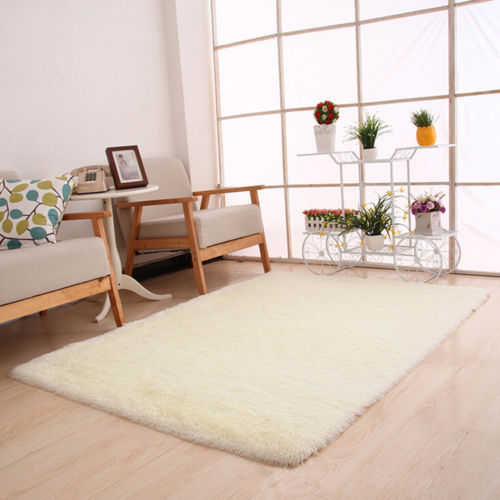 Home Bedroom Fluffy Shaggy Rugs Modern Living Room
