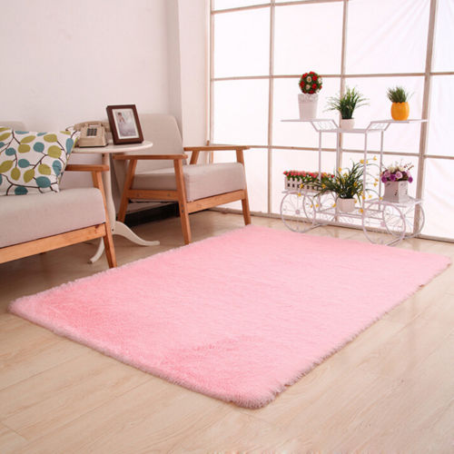 Home Bedroom Fluffy Shaggy Rugs Modern Living Room Thick Soft Carpet ...