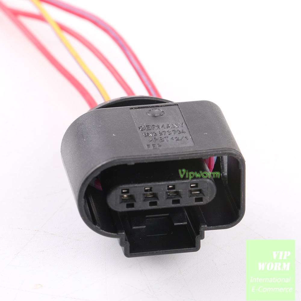 for vw audi skoda 4 way new 4 pin connector plug wire. Black Bedroom Furniture Sets. Home Design Ideas