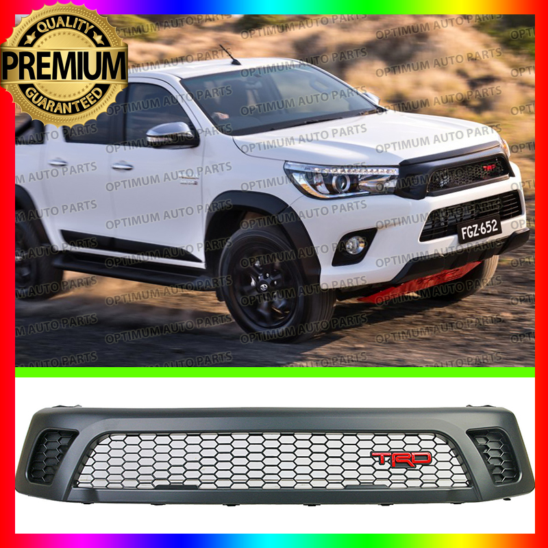 What Does Trd Stand For >> Front Grill Grille Black TRD Style Toyota Hilux Revo SR5 M70 M80 2015 2016 2017   eBay